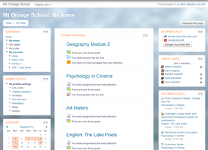 Moodle - Image: 1 My Home Example