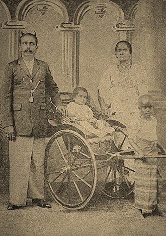 Ranasinghe Premadasa - 1 year old R. Premadasa with his parents in 1925.