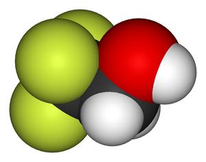 2,2,2-Trifluoroethanol - Image: 2,2,2 trifluoroethanol 3D vd W