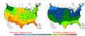 2006-05-08 Color Max-min Temperature Map NOAA.png