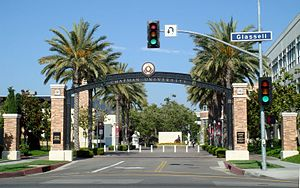 Chapman University - Schmid Gate, built in 2005