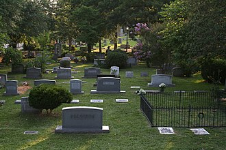 Old Chapel Hill Cemetery - Headstones, flat plaques, gated plots and other accommodations