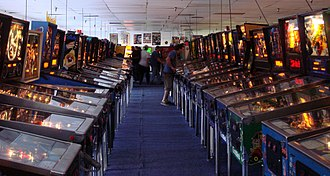 Pinball - A row of pinball machines at the Pinball Hall of Fame in Las Vegas, Nevada.