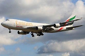 Emirates SkyCargo - A former Emirates SkyCargo Boeing 747-400F