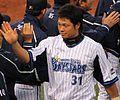 20120503 Yuuki Yosimura, outfielder of the Yokohama DeNA BayStars, at Yokohama Stadium.JPG