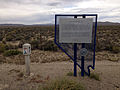 2014-09-08 13 41 55 Lincoln Highway marker and historic marker for Jacobsville along U.S. Route 50 in Lander County, Nevada.JPG