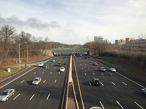 Iselin, New Jersey - The Garden State Parkway in Iselin