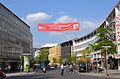 2015-06-06 Welcome to Interschutz 8-13 June 2015, Transparent über der Karmarschstraße, Hannover.jpg