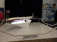 2016.10.13.113139 Boeing 777X model Future of Flight Center & Boeing Tour Everett Washington.jpg