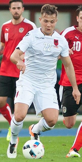 Amir Abrashi - Abrashi with Albania in March 2016