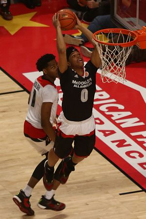 Miles Bridges - Bridges goes for a dunk in the 2016 McDonald's All-American Game