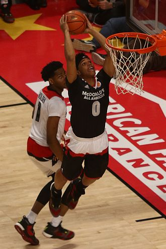 Miles Bridges - Bridges goes for a dunk in the 2016 McDonald's All-American Game.