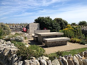 Chapmans Pool - The Royal Marines memorial garden at Emmetts Hill