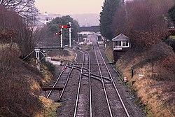 2018 at Ulverston station - yard and signal box.JPG
