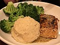 2020-02-21 20 20 10 A serving of salmon, mashed potatoes and broccoli at the Olive Garden in Fair Lakes, Fairfax County, Virginia.jpg
