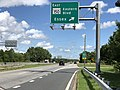 2020-08-04 15 10 08 View south along Maryland State Route 151 (North Point Boulevard) at the exit for Maryland State Route 150 EAST (Eastern Boulevard, Essex) in Dundalk, Baltimore County, Maryland.jpg