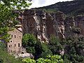 260 Casa del priorat de Sant Miquel del Fai i cingles de Bertí, des del camí de l'Ermita.JPG