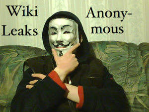 Deutsch: Alexander Klimov als Anonymous-Aktivi...