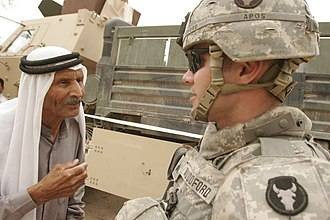 Minnesota National Guard - A Red Bull Soldier in Iraq.