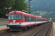 Modernizovaná jednotka ÖBB 4010 019-0 v Mürzzuschlagu