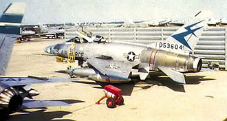 416th Fighter Squadron - 416th TFS F-100D 55-3604 at Kunsan AB, South Korea