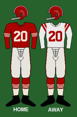 1956 San Francisco 49ers season - Image: 49ers 50 54