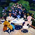 """4 """"Au jardin"""", huile sur toile de Boris Khomenko, 2003, 60X60.jpg"""