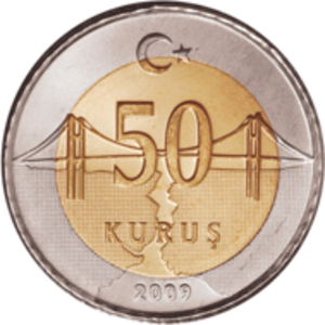 Kuruş - Current Turkish 50 kuruş coin