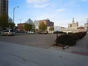 Hoffman Building - Location of where the Hoffman Building stood