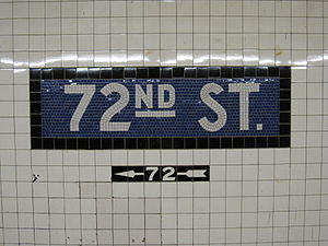 72nd Street (IND Eighth Avenue Line) - Name tablets
