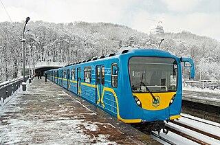 Kyiv Metro rapid transit system of the capital of Ukraine