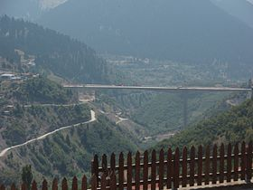 A2 Motorway, Greece - Metsovitikos bridge at Metsovo village, Metsovo municipality, Ioannina prefecture, Greece - 01.jpg