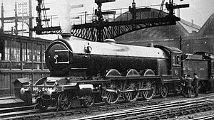 LNER Class A2 - A2 class 2400 on trial at King's Cross Station in June 1923