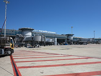 Marseille Provence Airport - Apron view
