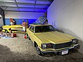 AMC Matador station wagon in yellow with matching boat and trailer on display at Rambler Ranch 1of2.jpg
