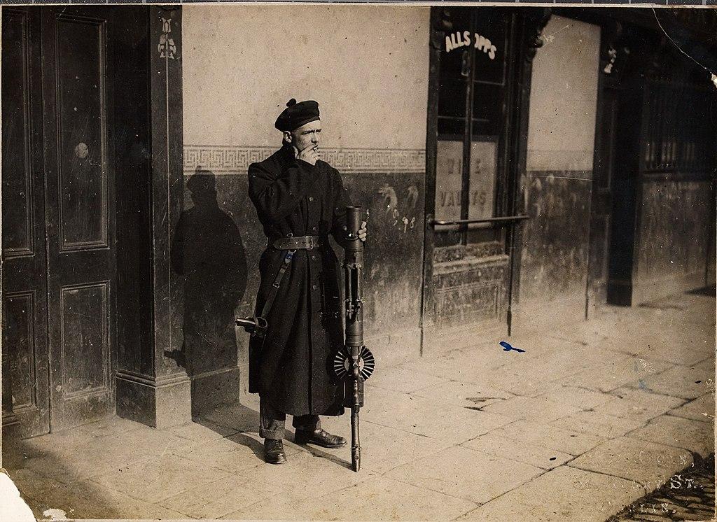 A Black and Tan on duty in Dublin