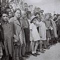 "A GROUP WAITING OF ""TEHERAN CHILDREN"" WAITING TO BOARD THE TRAIN AT THE ATLIT RAILWAY STATION. קבוצה של ""ילדי טהרן"" ממתינה לרכבת בעתלית.D842-076.jpg"