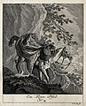 A horse packed with luggage, guided down a steep mountain by Wellcome V0021147EL.jpg