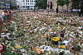 A sea of flowers to remember the victims of the terror attack in Oslo,Norway.JPG