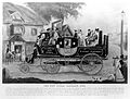 A steam-driven carriage with passengers passes through the s Wellcome L0002147.jpg