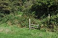 A stile at the bottom of West Down Hill - geograph.org.uk - 2082317.jpg