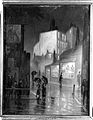 A street at night with a pharmacy. Oil painting by an Englis Wellcome L0002413.jpg