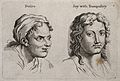 A woman's face expressing desire (left) and a man's face exp Wellcome V0009321.jpg