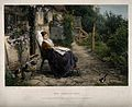 A young woman convalescing in a country garden watches a bir Wellcome V0015158.jpg