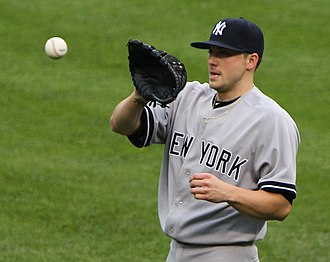 Aaron Laffey - Laffey during his tenure with the New York Yankees in 2011