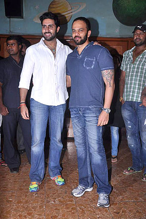 Abhishek Bachchan, Rohit Shetty meets fans at 'Bol Bachchan' screening 01.jpg