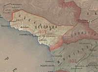 Abkhazia in the Map of Caucasus with the borders 1801-1813.JPG