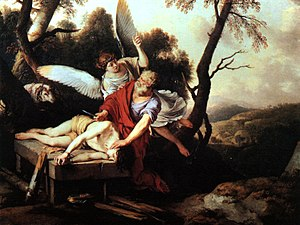 Abraham Sacrificing Isaac by Laurent de La Hir...