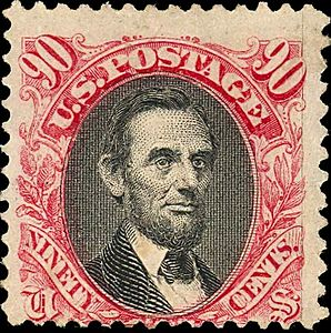 Abraham Lincoln 1869 Issue-90c