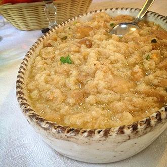 Peasant foods - Acquacotta soup